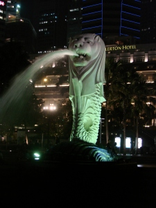 Merlion, Singapore's half mermaid, half lion symbol